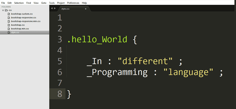 Hello World In Different Programming Language